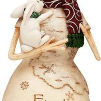 Friends are Precious Gifts Christmas Snowman Figurine