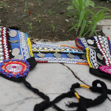 Indian vintage Banjara Belly Belt/ Tribal belly dance belt/  Bohemian belt for beautiful girls