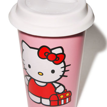 Vandor Hello Kitty Ceramic Travel Mug Pink One