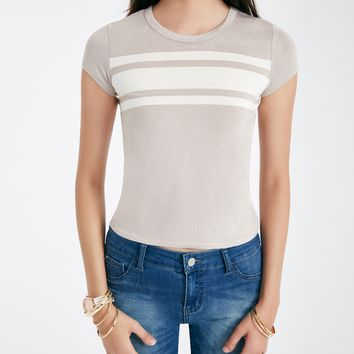 Striped Baby Tee | Wet Seal