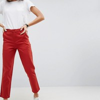 ASOS Chino Pants In Red at asos.com