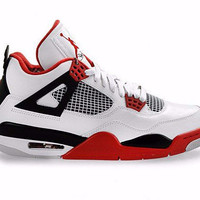 Jordan 4 Retro Varsity Red and White