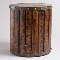 Wood Plank Drum Table - World Market