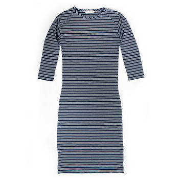 Eva Indigo Stripe Dress
