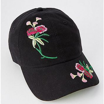Embroidered Floral Dad Hat - Spencer's
