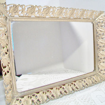 Vintage Dressing Table Mirror Vanity Tray Hollywood Regency Home Decor