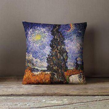 Van Gogh Painting Decorative Throw Pillow Cover