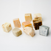 9 soap bits in a box - organic handmade soap