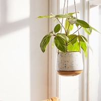 Speckled Ceramic Hanging Planter | Urban Outfitters