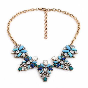Necessary Blue Statement Necklace