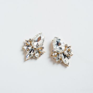 Lilah Crystal Cluster Earrings