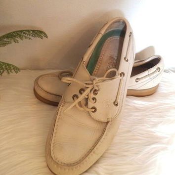 Vintage White Top-Siders ~ Men's Florsheim Outdoorsman Sperry Size 10