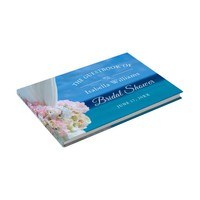 Elegant Floral Ocean Beach Summer Bridal Shower Guest Book