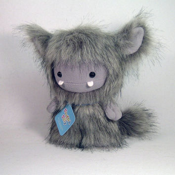 Grey Frost Monster by Stuffed Silly, Plush Toy Collectible, Soft Art Doll Yeti