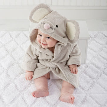 high quality children's bathrobe Retail! Baby pc 1 boy girl soft velvet robe pajamas coral children dress baby clothes