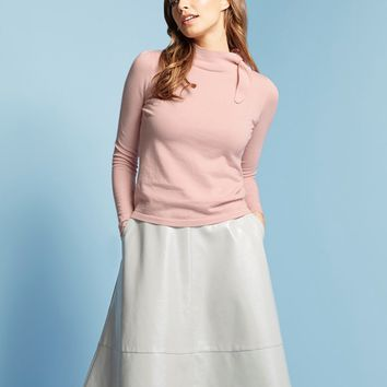 Lost Ink Side Neck Bow Jumper