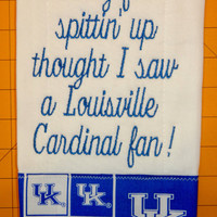 University Of Kentucky Burp Pad........Also Available In Any Team & Color Combination