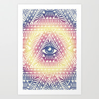 Native Illuminati Art Print by Uprise Art & Design