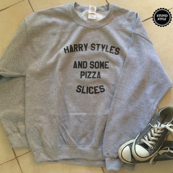 Harry styles and some pizza slices UNISEX sweatshirt jumper gift cool fashion sweatshirts girls sizing women sweater