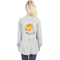University of Tennessee Helmet Long Sleeve Tee in Heather Grey by Lauren James