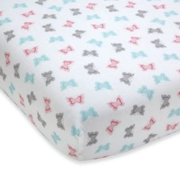 Wendy Bellissimo™ Mix & Match Butterflies Fitted Crib Sheet in Pink