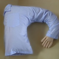 Funny Boyfriend Arm Soft Throw Pillow Body Hug Washable Girlfriend Cushion Bed Gift Blue