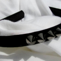 Black Spiked Headband 1/2