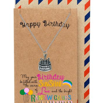 Athena A Very Happy Birthday Necklace, comes with Inspirational Quote