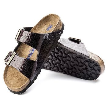 Best Online Sale Birkenstock Arizona Soft Footbed Birko Flor Myda Wine 1005487 Sandals