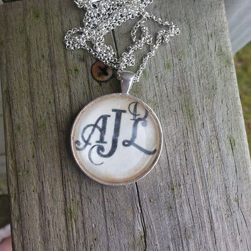Unique Monogram Necklace, Family Monogrammed Handmade Necklace, Personalized