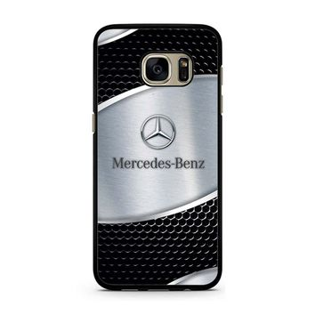 Mercedes Benz Black Silver Carbon Samsung Galaxy S7 Case