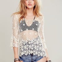 Free People Womens LA Livin Flower Shop Top