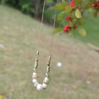 Darling Dew Drop Pearl & Gold Necklace
