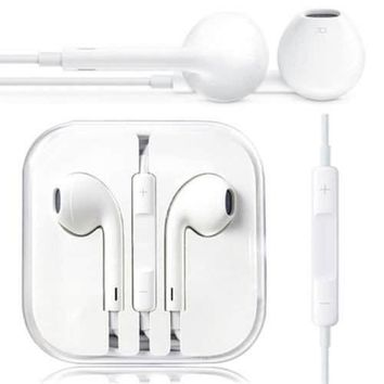EARPHONES EARBUDS HEADPHONES IN EAR PODS REMOTE VOLUME CONTROL MIC FOR IPHONE