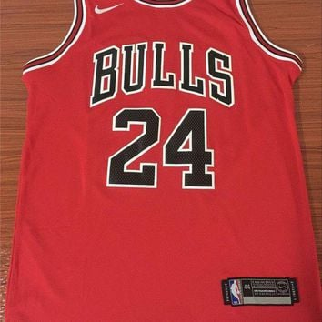 PEAPJ3V Chicago Bulls #24 Lauri Markkanen Red Basketball Jersey