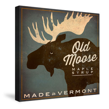 Old Moose Maple Syrup Canvas Wall Art