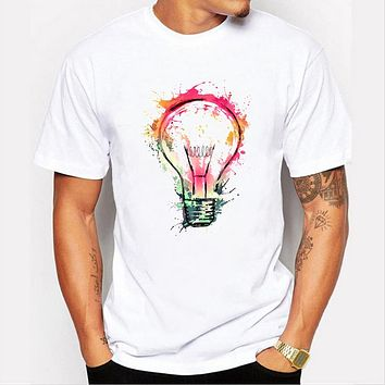 Arrival summer men's personality lights printed T-shirts Casual Top Design T shirt