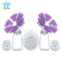 Breast Pump With Milk Bottle Cold Heat Pad Double Electric Powerful Nipple Suction USB Breast Pumps Mom Breast Feeding for Baby