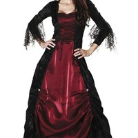 Atomic Black and Red Gothic Vampire Costume