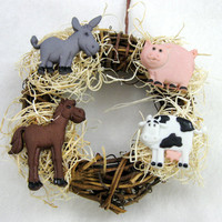 Farm Animals Christmas Ornament 103