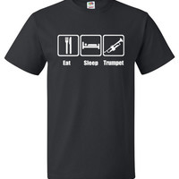 Eat Sleep Trumpet Shirt Funny Band Tee