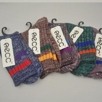 Vintage Style Winter Soft Warm Thick Knit Wool Crew Socks