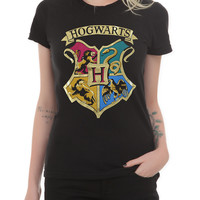 Harry Potter Hogwarts Gold Foil Girls T-Shirt