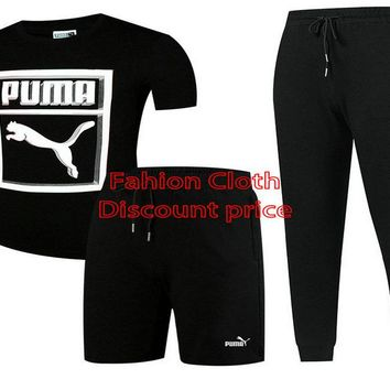 Puma Three-Piece Suit 2018 Spring Clothing L-4XL 17188 Black