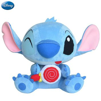 Disney Brand Lilo And Stitch Lollipop Kawaii Plush Cotton Stuffed Animal Toys Doll Christmas Gift Toys for Baby Boys Girls Kids