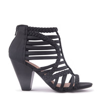 Strappy Braided Heel Sandal