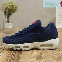 Authentic Women Nike Air Max 95 Indanthrene Blue White shoe