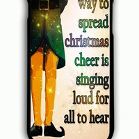 iPhone 6 Plus Case - Rubber (TPU) Cover with Funny Christmas ELF Quote Rubber Case Design