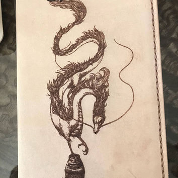 Leather Moleskine Cover, dragon