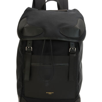 Canvas Drawstring Backpack, Black - Givenchy